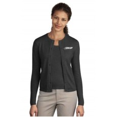EMAP Charcoal Heather Crewneck Cardigan Sweater
